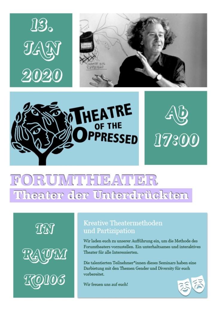 Flyer Forumtheater 13.01.2020